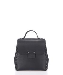 Black leather studded backpack