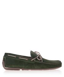 Men's Moss leather slip-on moccasins