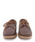 Brown leather lace-up boat shoes Sale - Castellanisimos Sale