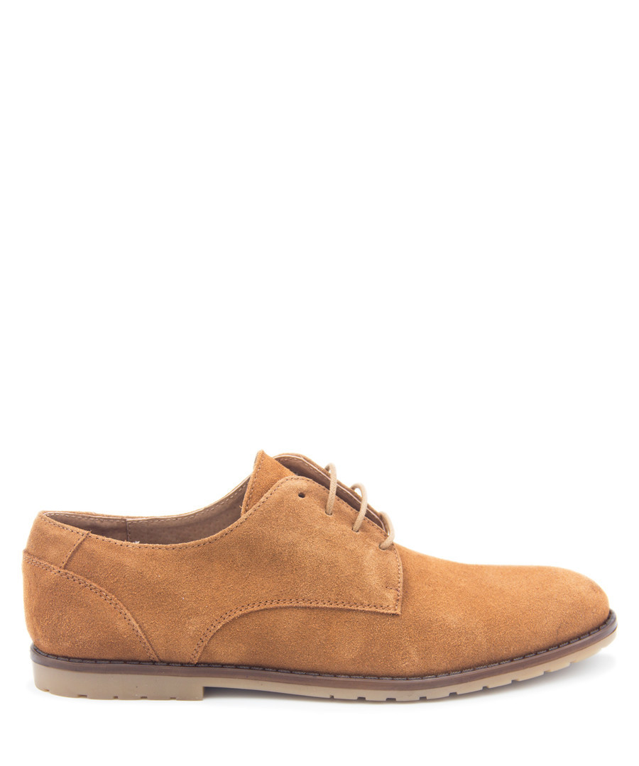 Taupe leather lace-up brogues Sale - Castellanisimos