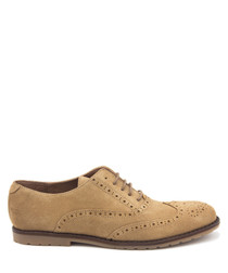 Mushroom leather lace-up shoes