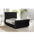 Black deep buttoned super king bed Sale - Chiswick Sale