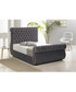 Charcoal deep buttoned king bed Sale - Chiswick Sale