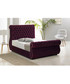 Purple deep buttoned king bed Sale - Chiswick Sale