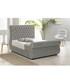 2pc silver double bed & mattress set Sale - Chiswick Sale