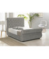 Silver deep buttoned super king bed Sale - Chiswick Sale