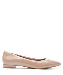 Pale pink patent leather ballet flats