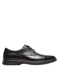 Lea black leather lace-up formal shoes