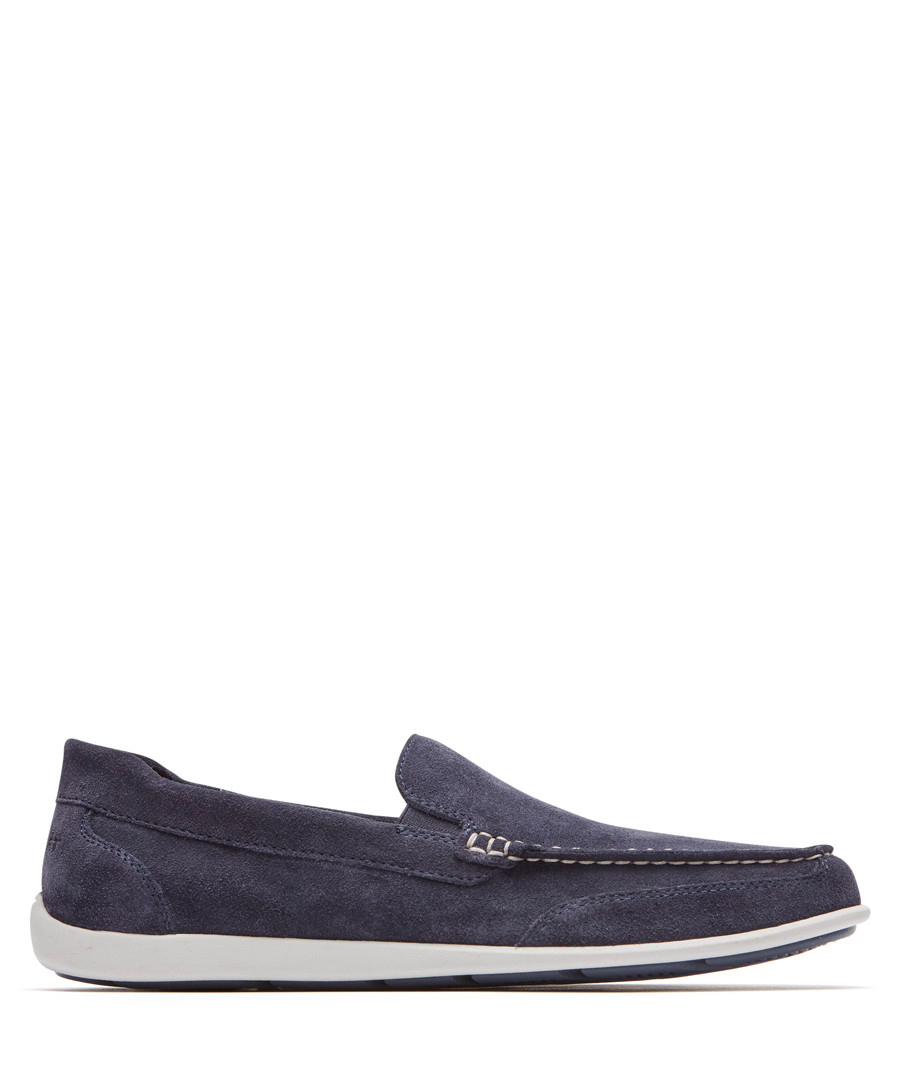 Blue leather loafers Sale - rockport