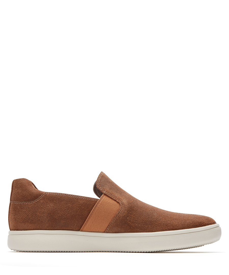 Colle tan leather slip-on shoes Sale - rockport