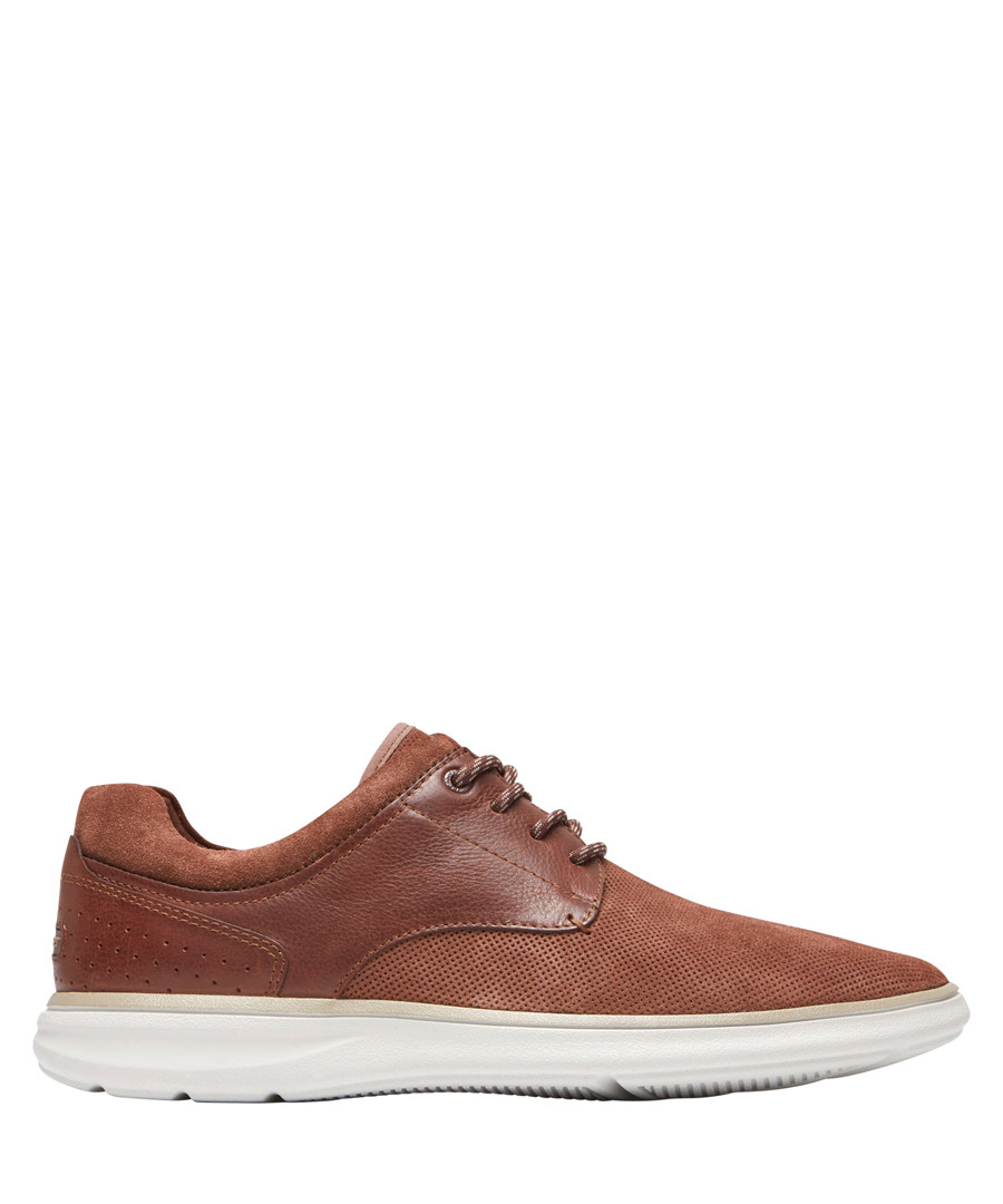 Zaden burnt orange leather sneakers Sale - rockport