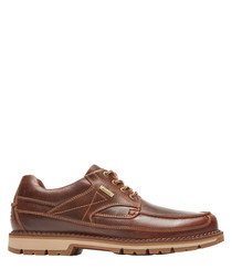 Centry dark tan leather lace-up shoes