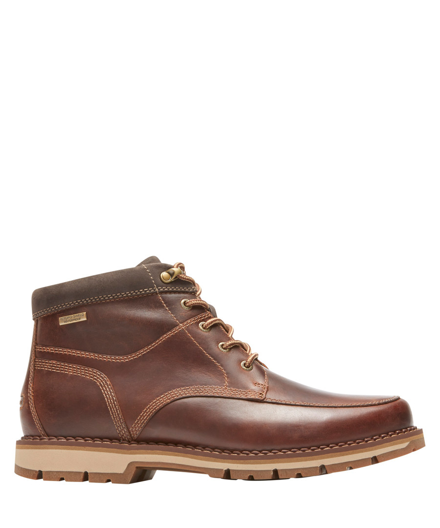 Centry brown leather lace-up boots Sale - rockport