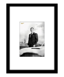 Bond & DB5 black framed print