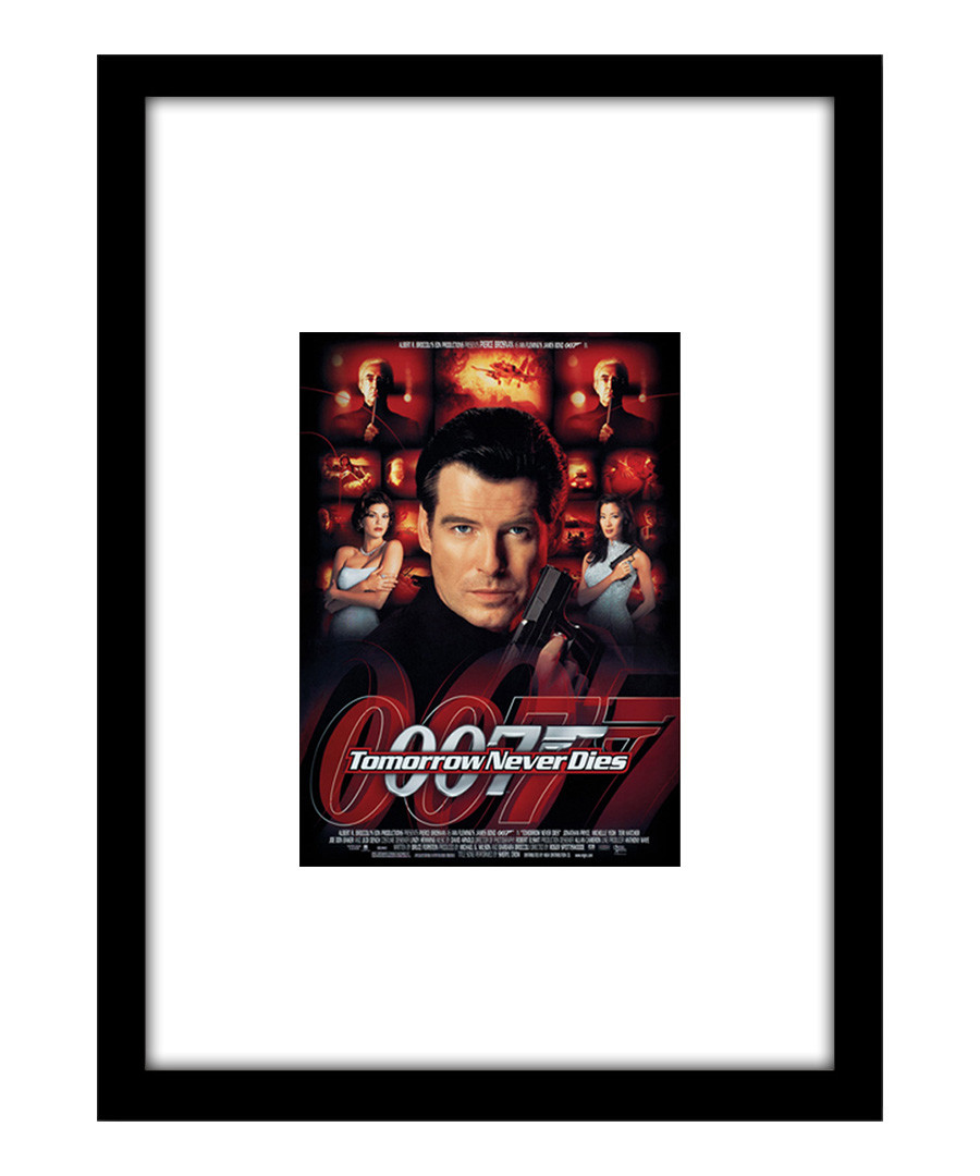 Tomorrow Never Dies black framed print Sale - The Art Guys