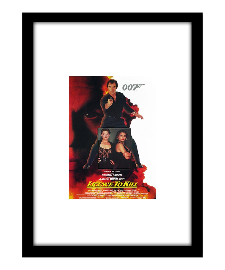 Licence To Kill black framed print Sale - The Art Guys