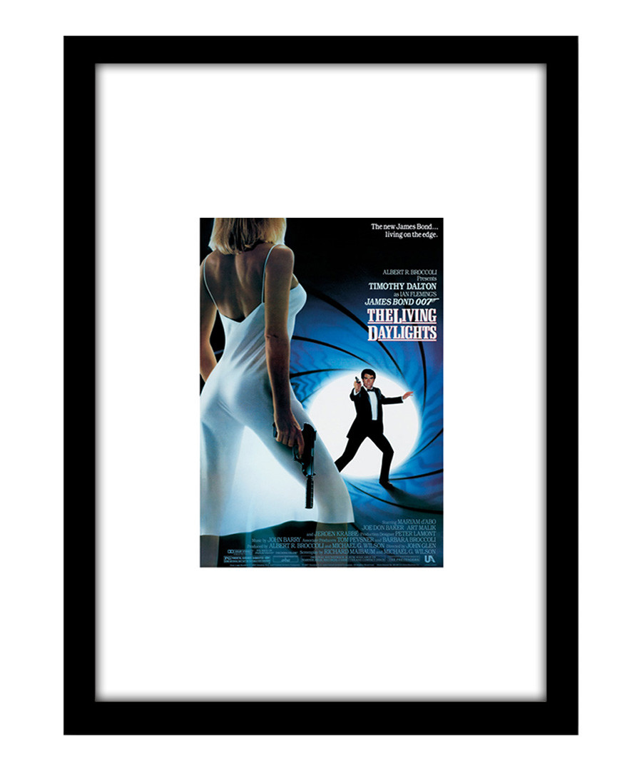 The Living Daylights black framed print Sale - film classics