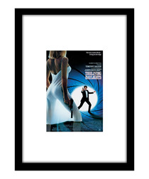 The Living Daylights black framed print
