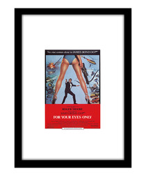 For Your Eyes Only black framed print