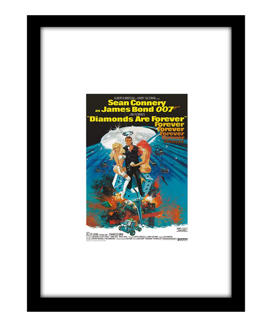 Diamonds are Forever black framed print Sale - The Art Guys