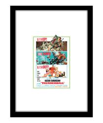 Thunderball black framed print