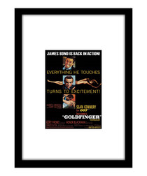 Goldfinger black framed print