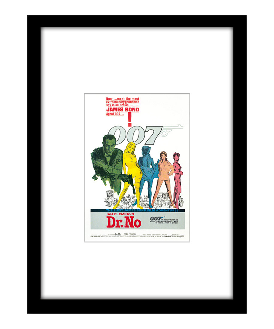 Dr. No black framed print Sale - The Art Guys