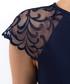 Blue mesh sleeve skater dress Sale - BGL Sale