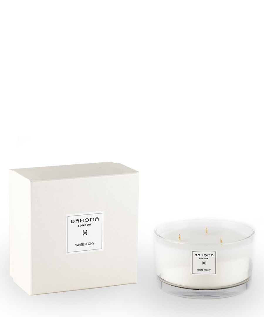 White Peony scented 3 wick candle Sale - bahoma