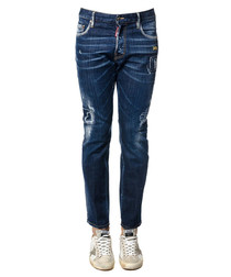 Men's City Biker blue cotton trousers