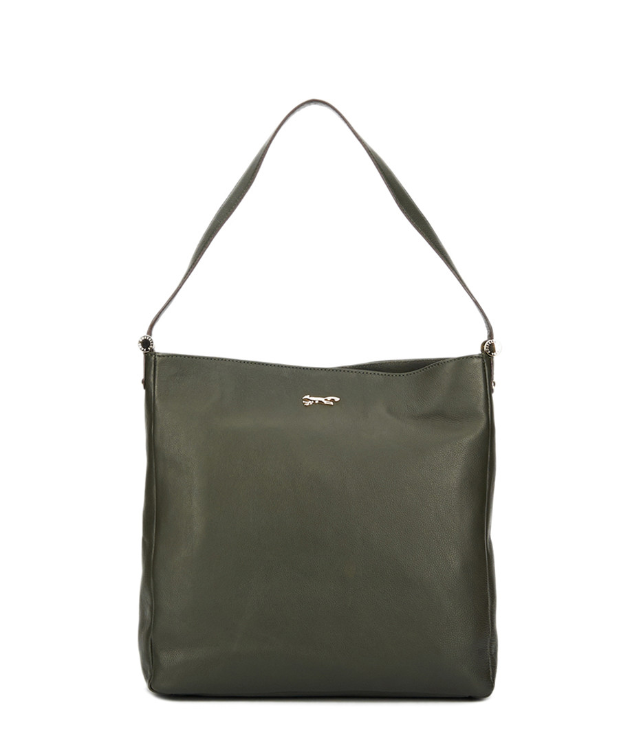 Dark green leather shoulder bag Sale - paul costelloe