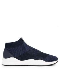 Men's Consillo navy knit sneakers