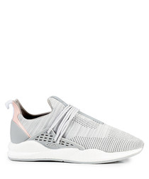 Men's Intuous white knit sneakers