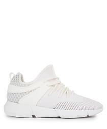 Women's Infinity white knit sneakers