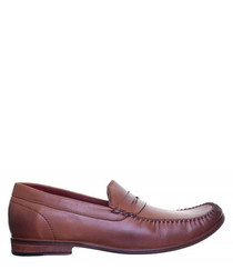 Dorian tan leather loafers