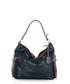 Navy & brown leather shoulder bag Sale - anna morellini Sale