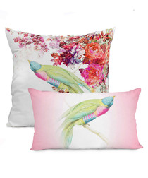 2pc Ethereal pink cotton cushion covers