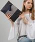Blue cotton blend zigzag clutch bag Sale - Royal Summer Sale