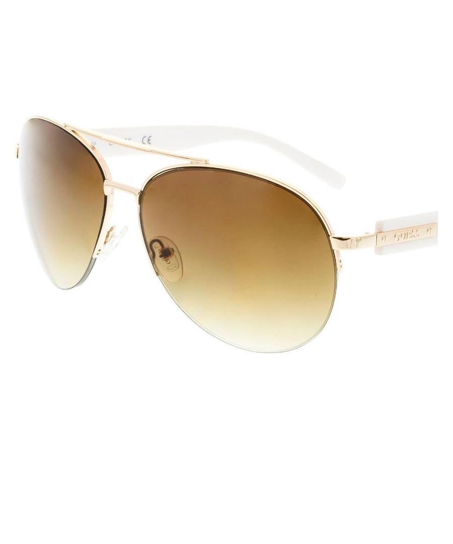 b5e66d6f604 Brown graduated aviator sunglasses Sale - Guess