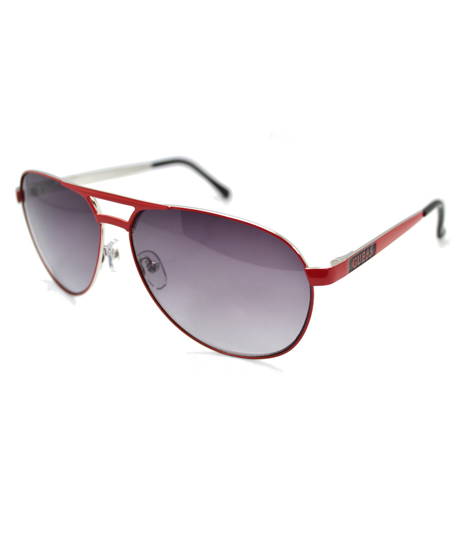 Red frame aviator sunglasses Sale - guess