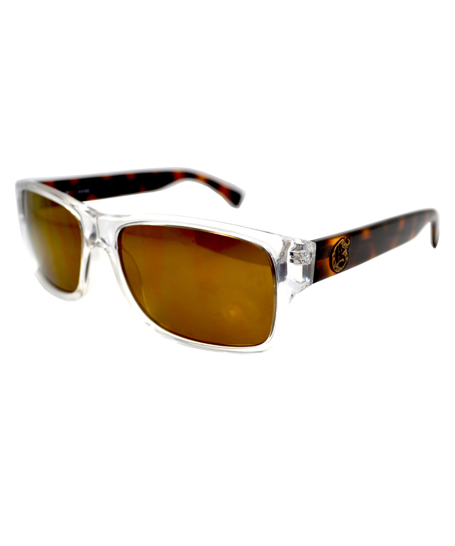 34f40b3bf1 Clear   tortoiseshell frame sunglasses Sale - Guess
