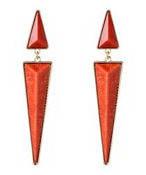 Northampton coral arrow earrings