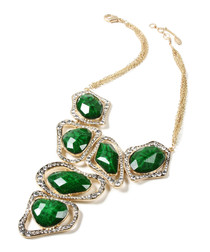 Harper evergreen crystal necklace