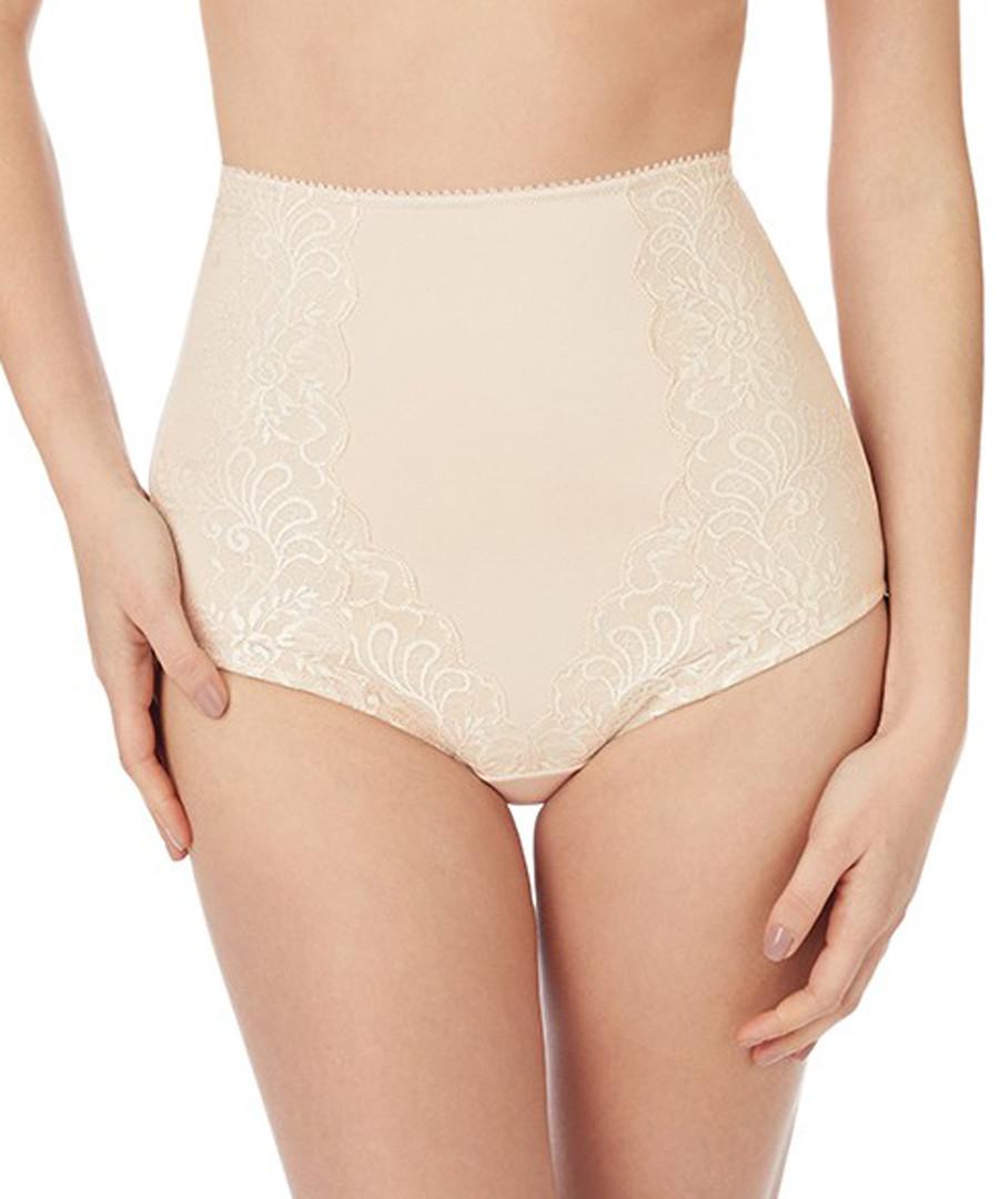 Sophia almond lace high-waist briefs Sale - LE MYSTERE