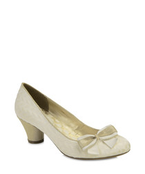 Lily cream bow detail heels