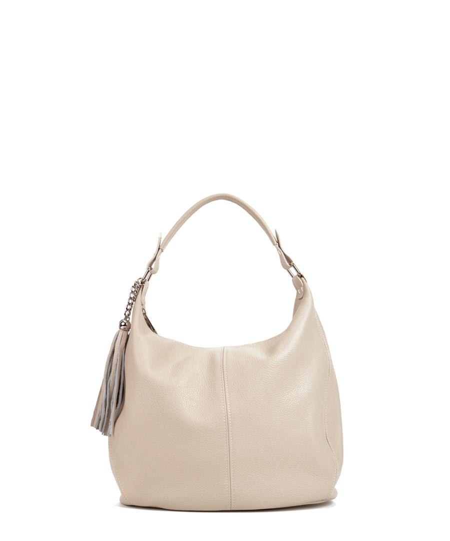Beige leather tassel shoulder bag Sale - Sofia Cardoni