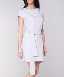 Grey short sleeve mini dress