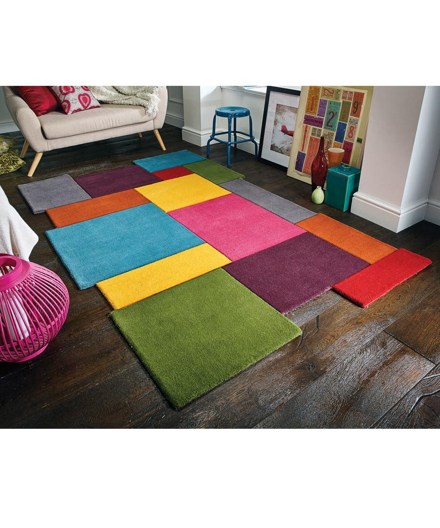 Multi-colour wool rug 90 x 150cm Sale - flair rugs
