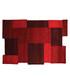 Collage red wool rug 90 x 150cm Sale - flair rugs Sale