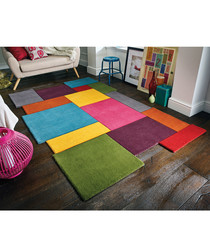 Multi-colour wool rug 120 x 180cm